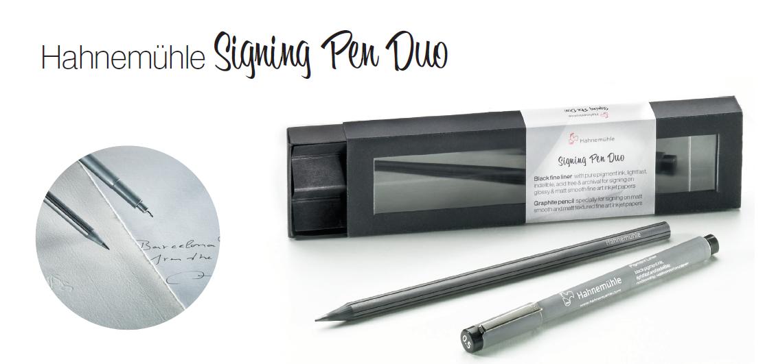 hahnemühle signing pen duo signierstift mit pigmenttinte und graphitstift