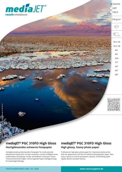 """mediaJET PGC 310FD """"high gloss"""" Hochglänzendes schweres Fotopapier"""
