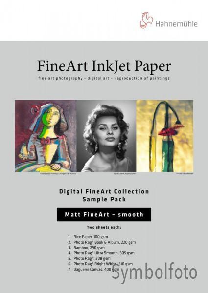 Hahnemühle DFA Testpack -Matt Fine Art- textured - 10 Blatt DIN A3+