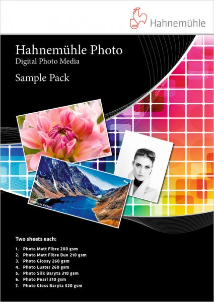 Hahnemühle Photo Sample Pack DIN A3+ 10 Blatt - Digital Photo Media