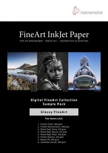 Hahnemühle DFA Testpack - Glossy Fine Art - 14 Blatt DIN A3+