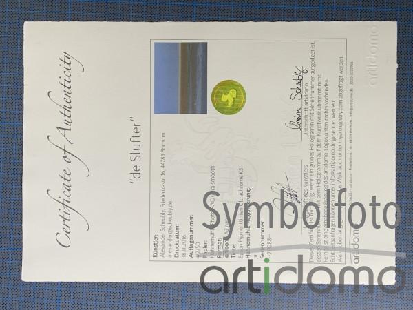 Hahnemühle Zertifikat inkl. Druck und Hologramm