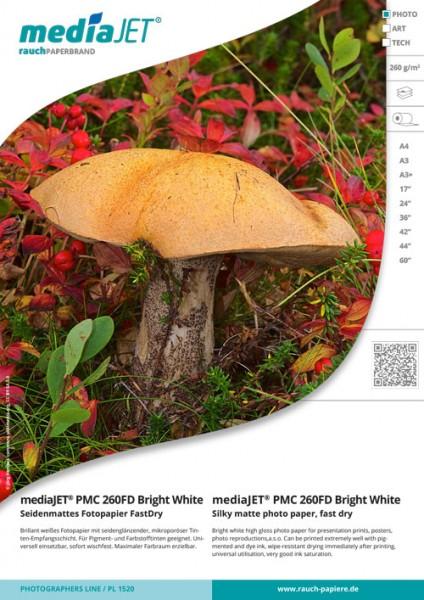 "mediaJET PGC 260FD ""bright white"" Glänzendes Fotopapier FastDry"