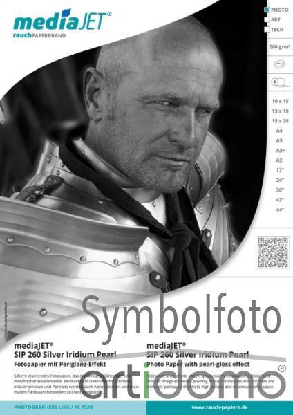 mediaJET SIP 260 Silver Iridium Pearl Fotopapier mit Perlglanz-Effekt