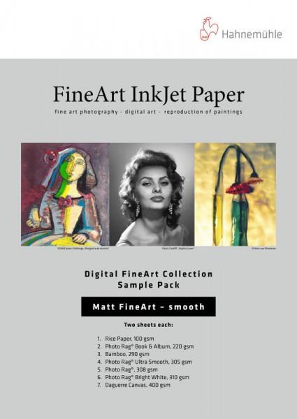Hahnemühle DFA Testpack -Matt Fine Art- textured - 10 Blatt DIN A4